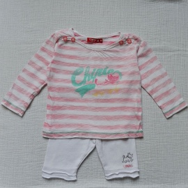 Ensemble rose CHIPIE 6 mois