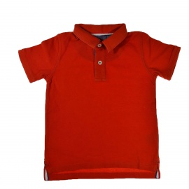 Polo orange Boden 2 ans