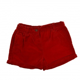 Short rouge velours 18 mois Bout'chou