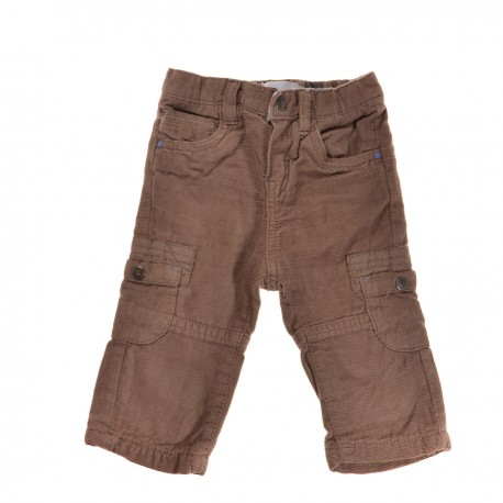 Pantalon marron velours OBAIBI 6 mois