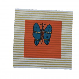 Carte papillon bleu